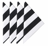 Cloth Napkins Black Stripe