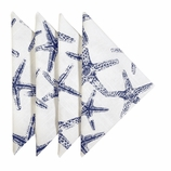 Cloth Napkins Blue Starfish