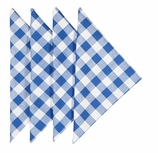 Cloth Napkins Checked Blue