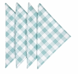 Cloth Napkins Checked Turquoise