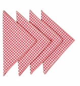 Cloth Napkins Gingham Red