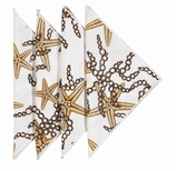 Cloth Napkins Gold Starfish