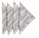 Cloth Napkins Gray Arrow