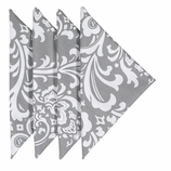 Cloth Napkins Gray Damask
