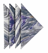 Cloth Napkins Gray Marble