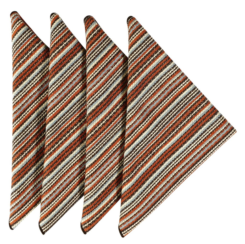 cloth napkins rustic stripe click to enlarge