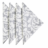 Cloth Napkins Silver Damask