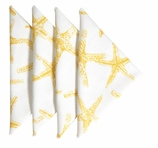 Cloth Napkins Yellow Starfish