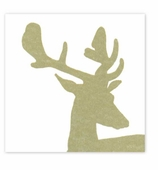 Cocktail Napkins Antlers Gold