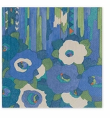 Cocktail Napkins Blue Floral