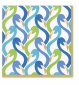 Cocktail Napkins Flamingo Blue