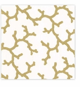 Cocktail Napkins Gold Coral