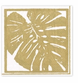 Cocktail Napkins Gold Leaves