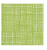 Cocktail Napkins Green Plaid