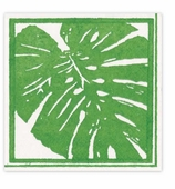 Cocktail Napkins Palm Green