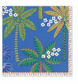 Cocktail Napkins Palms Blue