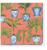 Cocktail Napkins Palms Coral