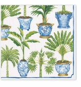 Cocktail Napkins Palms Pot