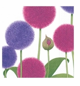 Cocktail Napkins Purple Alliums