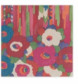 Cocktail Napkins Red Floral
