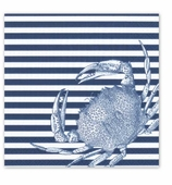 Cocktail Napkins Stripe Blue