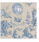 Cocktail Napkins Toile Blue