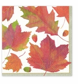 Cocktail Napkins Winter Leaves