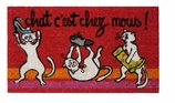 Decorative Doormats Red Cats