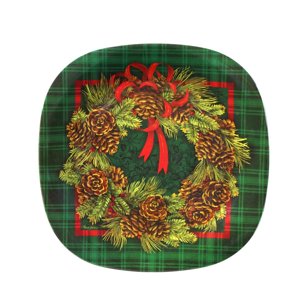 Decorative Plastic Plates Pine 8.5u0026quot;. Click to enlarge  sc 1 st  Decorative Things & Decorative Plastic Plates by Keller Charles