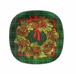 Decorative Plastic Plates Pine 8.5""