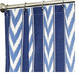 Extra Long Shower Curtains Blue Stripe