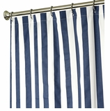 Extra Long Shower Curtains Navy Stripe