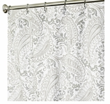 Extra Long Shower Curtains Paisley