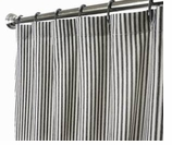 Extra Long Shower Curtains Ticking Stripe