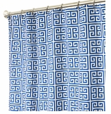 Extra Long Shower Curtains XXL Tower Blue