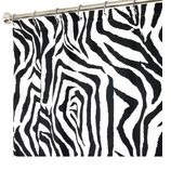 Extra Long Shower Curtains XXL Zebra Black