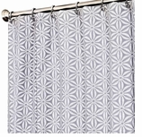 Fabric Shower Curtain Gray Star