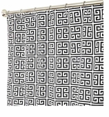 Fabric Shower Curtains Black Geom