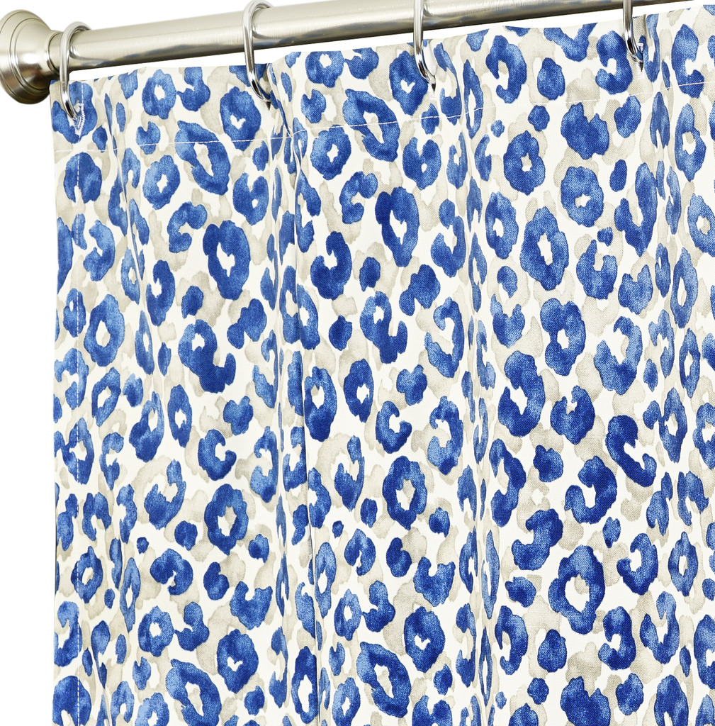 Fabric Shower Curtains Blue Animal Click To Enlarge