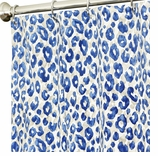 Fabric Shower Curtains Blue Animal