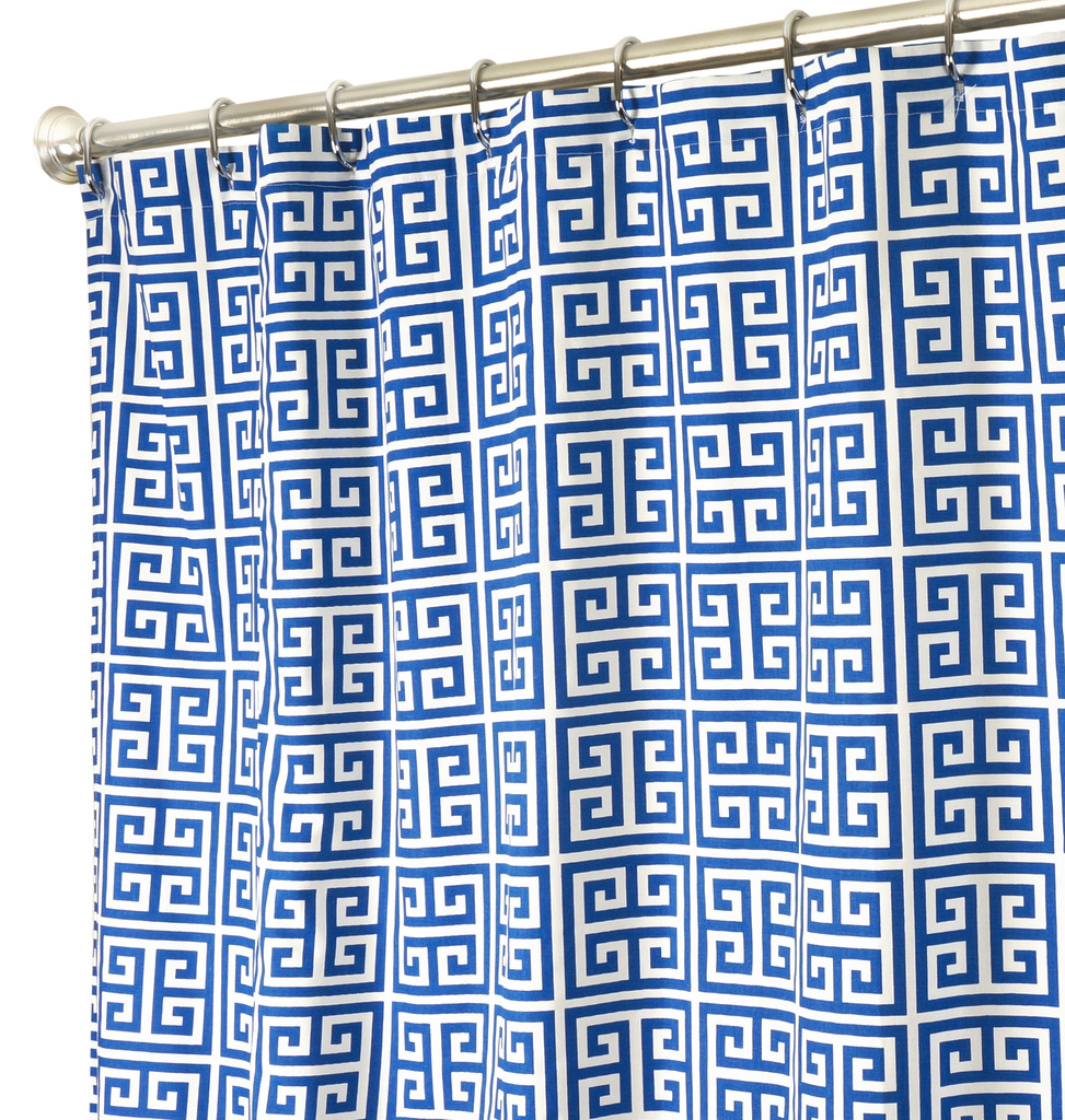 Fabric Shower Curtains Cobalt Click To Enlarge