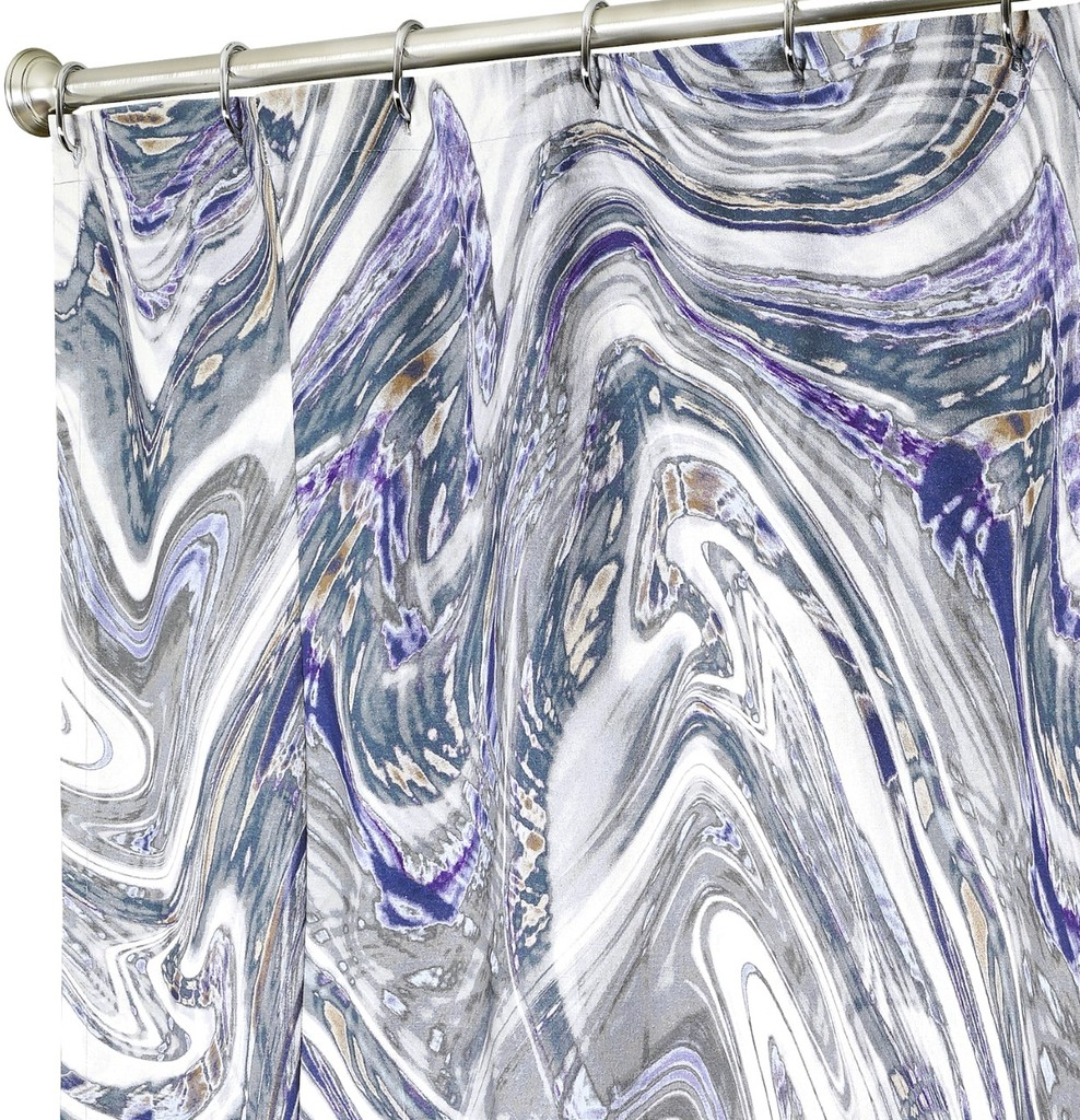 Fabric Shower Curtains Marble