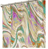 Fabric Shower Curtains Marble Rainbow