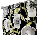 Fabric Shower Curtains Poppy Black