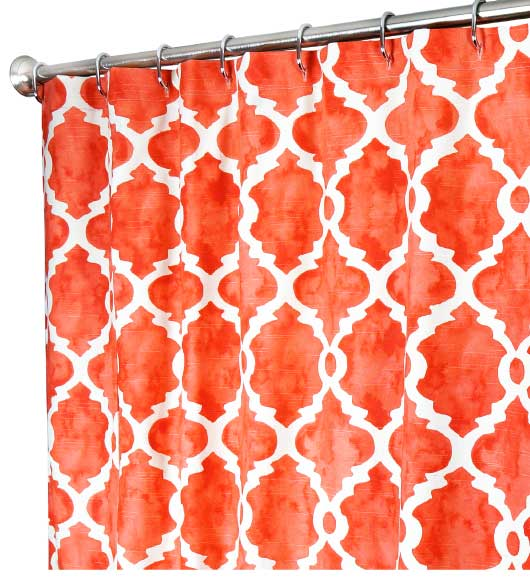 Fabric Shower Curtains Salmon