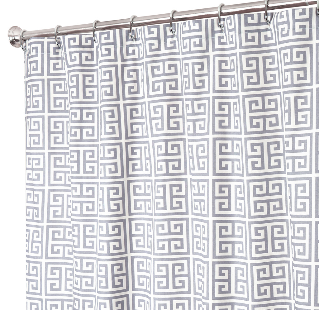 washable fabric kitchen pattern design for simple com taupe dp essentials merritt modern madison amazon casual aqua curtain curtains shower bathroom x park home geometric
