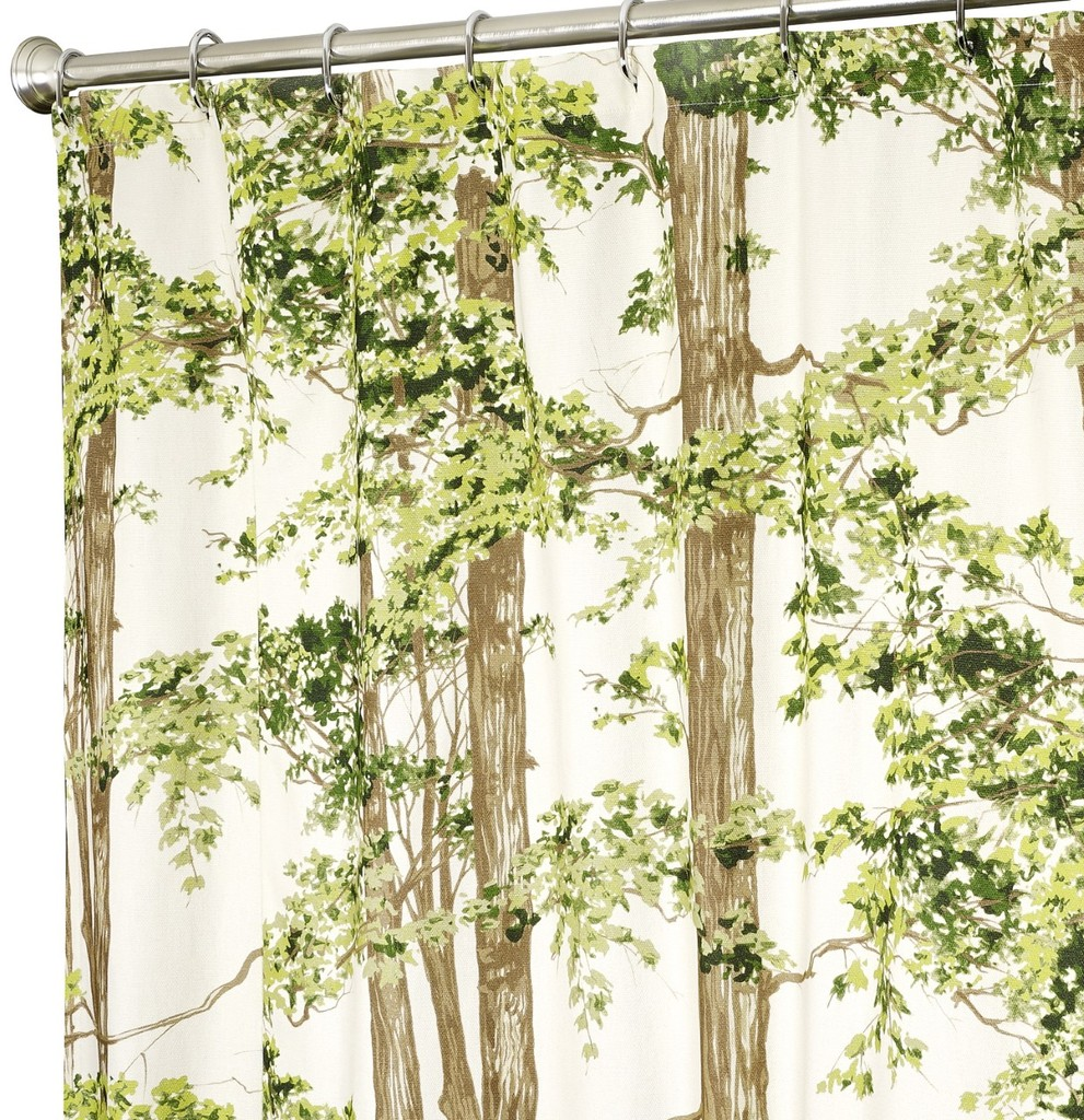 Fabric Shower Curtains Trees