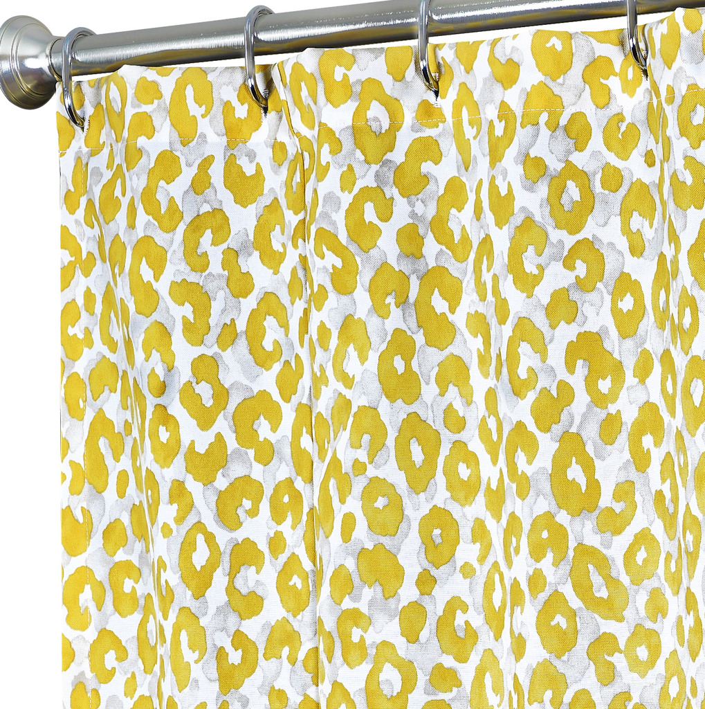fabric shower curtains yellow animal click to enlarge