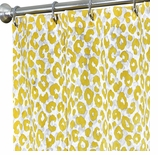Fabric Shower Curtains Yellow Animal