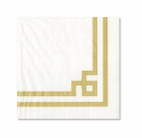 Fancy Lunch Napkins Gold & White